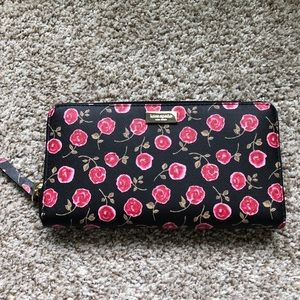Kate Spade Lacey Zip Continental Wallet Roses